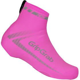GripGrab RaceAero Hi-Vis Lightweight Lycra Hi-Vis Lightweight Lycra Shoe Cover pink